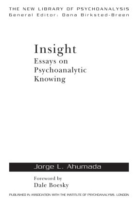 Counterinduction in psychoanalytic practice: epistemic and technical aspects