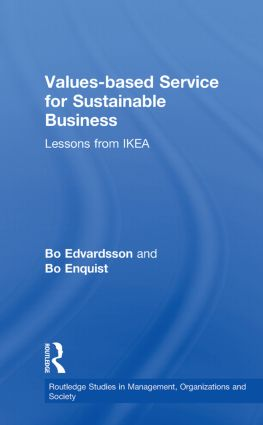 Values-based Service for Sustainable Business: Lessons from IKEA (Paperback) book cover