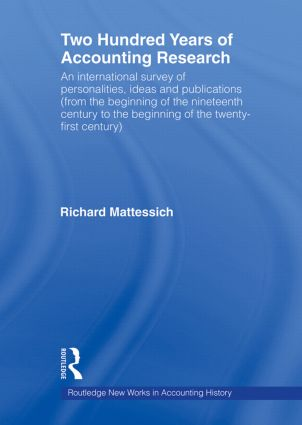 Two Hundred Years of Accounting Research (Paperback) book cover