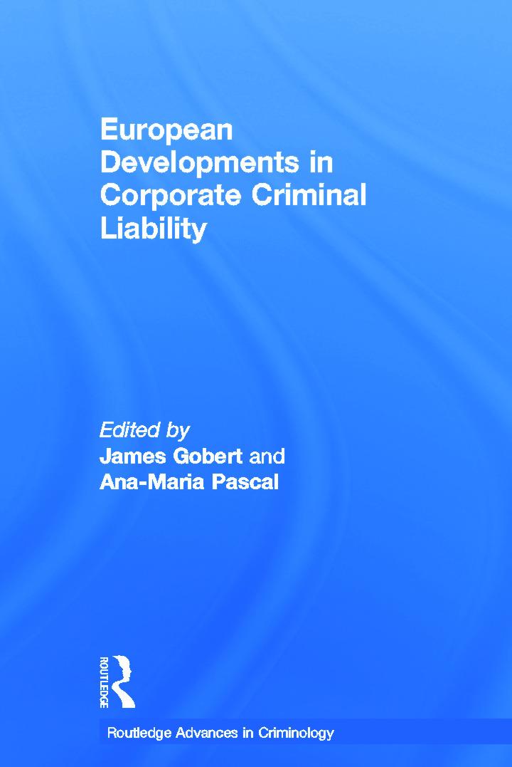 European Developments in Corporate Criminal Liability (Hardback) book cover