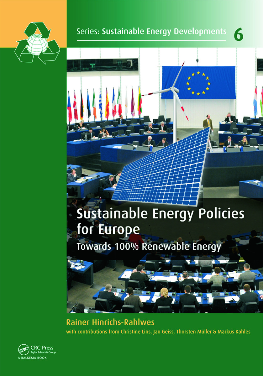 Sustainable Energy Policies for Europe: Towards 100% Renewable Energy book cover