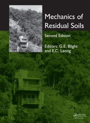Mechanics of Residual Soils, Second Edition: 2nd Edition (Hardback) book cover
