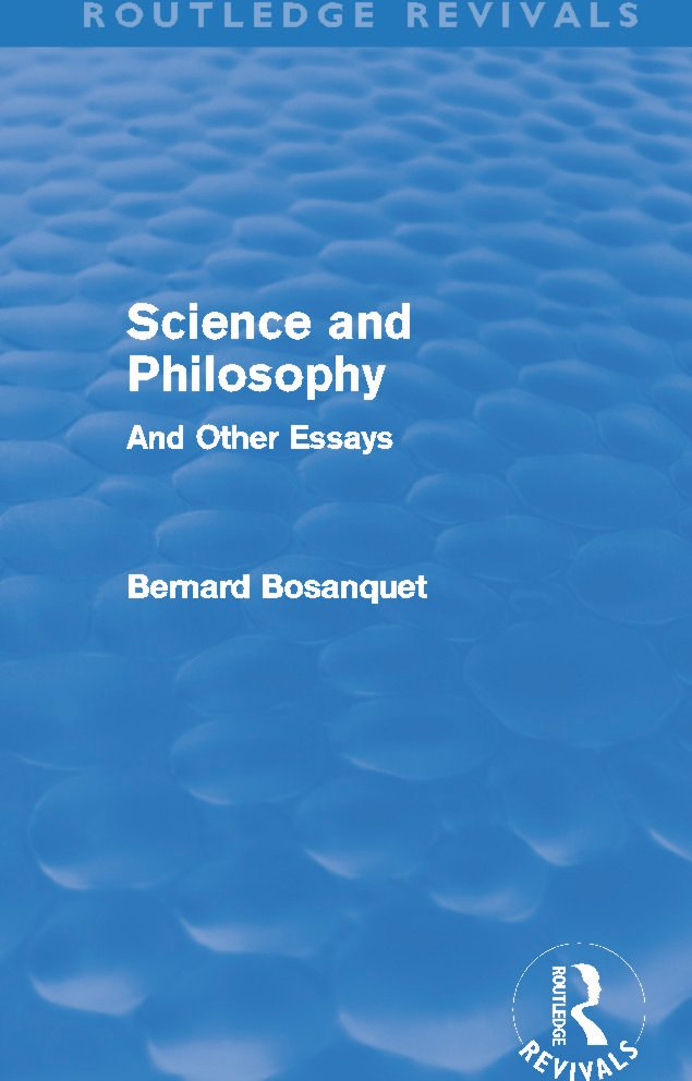 Science and Philosophy (Routledge Revivals): And Other Essays (Hardback) book cover