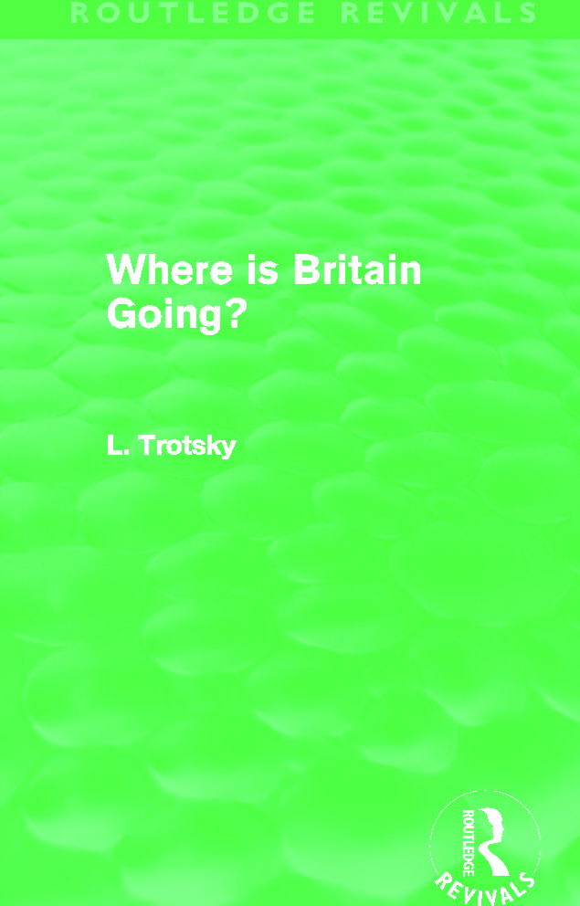 Where is Britain Going? (Routledge Revivals) (Hardback) book cover