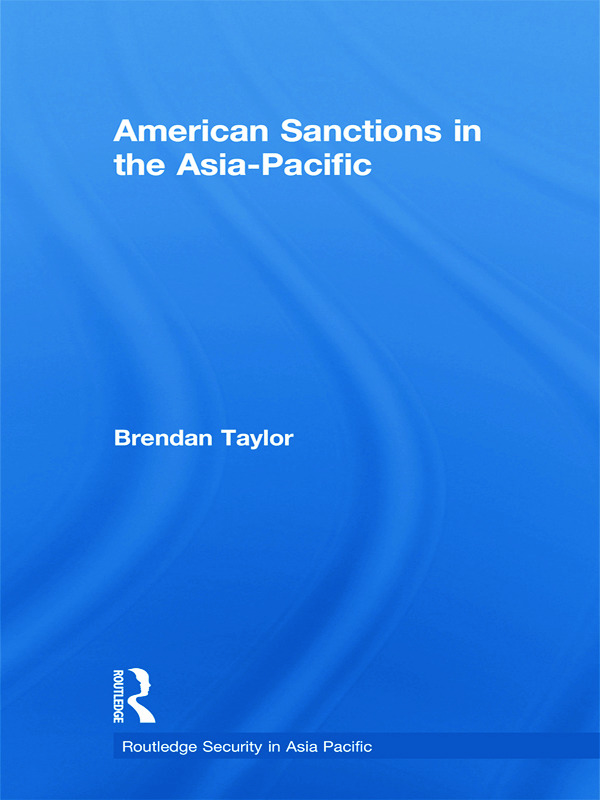 American Sanctions in the Asia-Pacific book cover