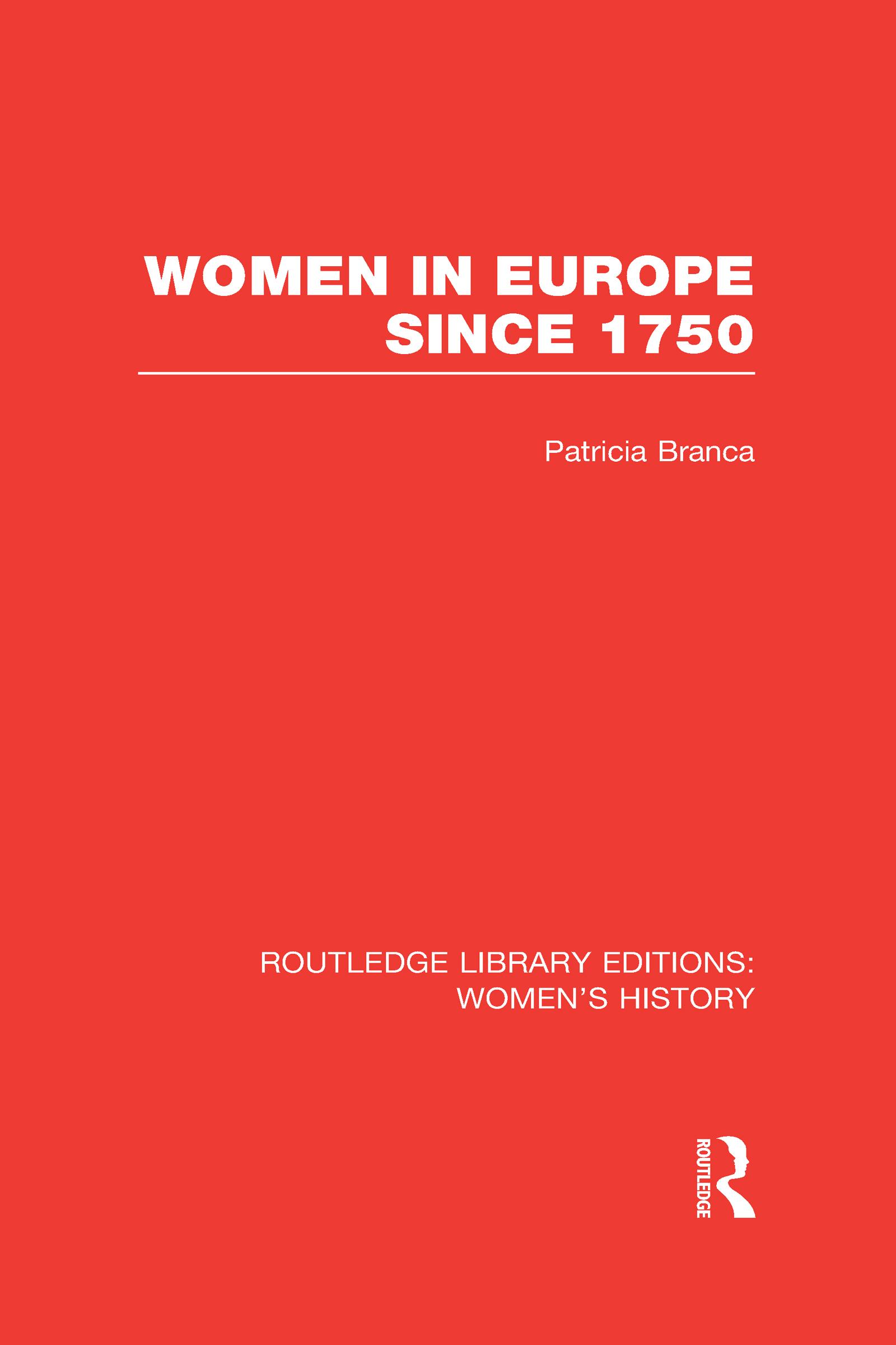 Women in Europe since 1750 (Hardback) book cover