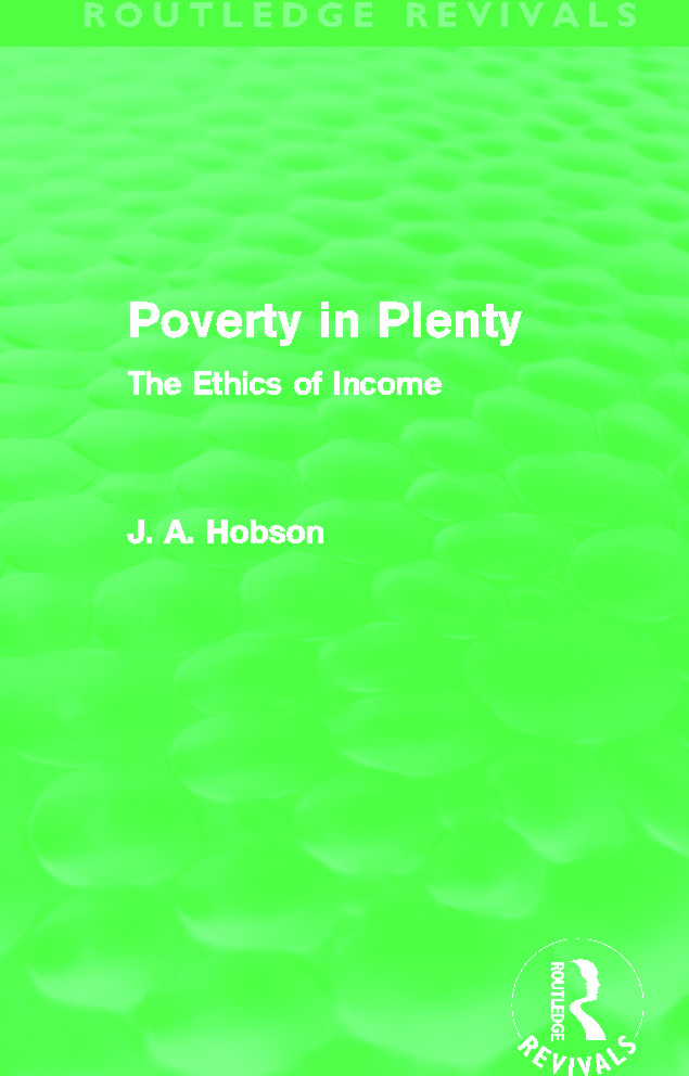 Poverty in Plenty (Routledge Revivals): The Ethics of Income book cover