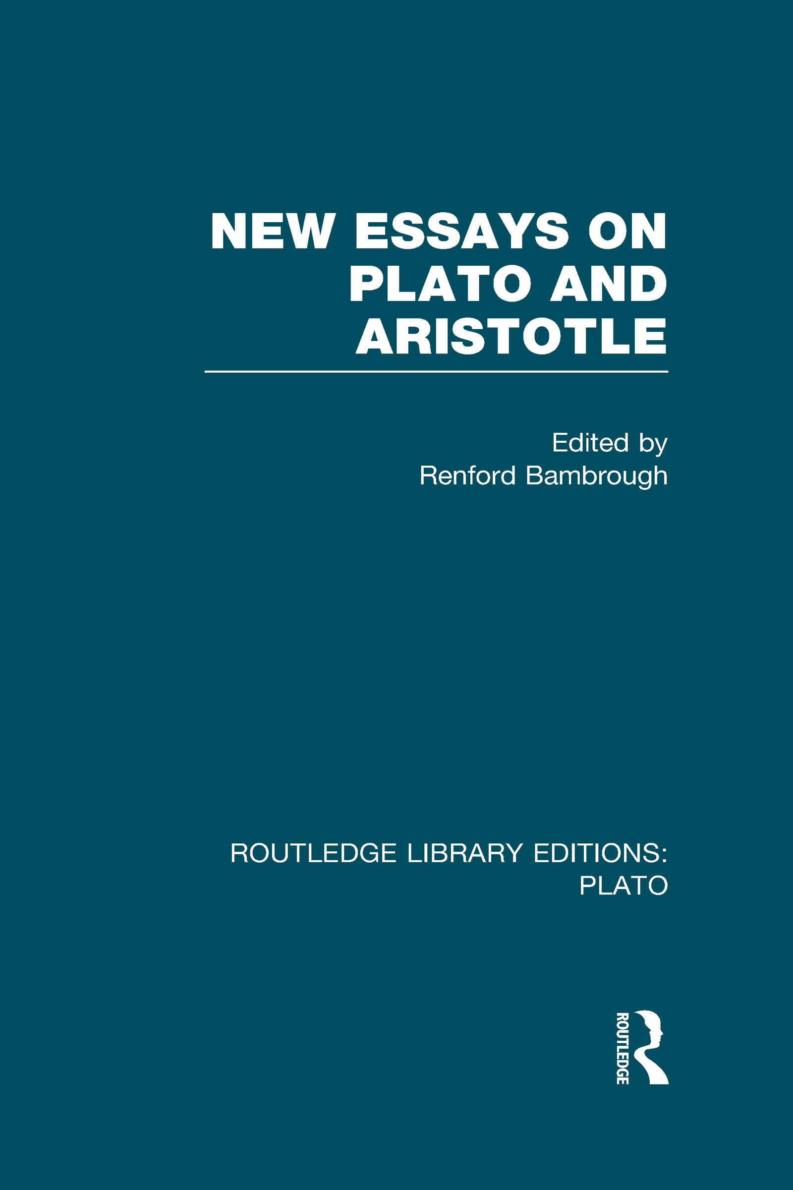 New Essays on Plato and Aristotle (RLE: Plato) (Hardback) book cover