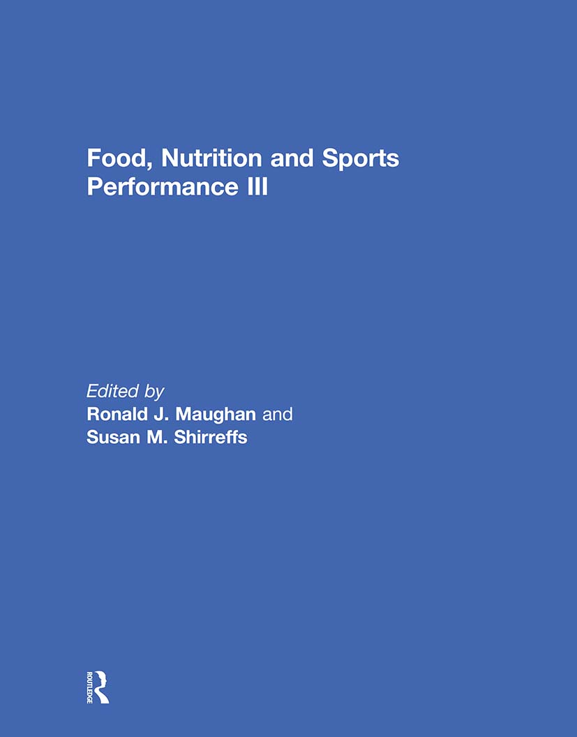 Food, Nutrition and Sports Performance III (Hardback) book cover