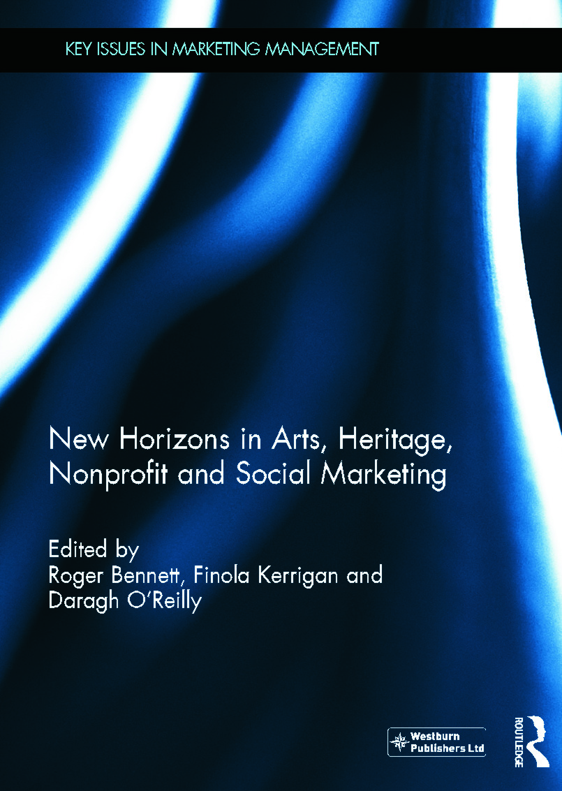 New Horizons in Arts, Heritage, Nonprofit and Social Marketing (Hardback) book cover