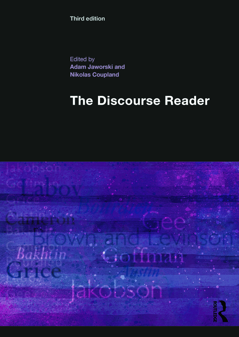 The Discourse Reader: 3rd Edition (Paperback) book cover