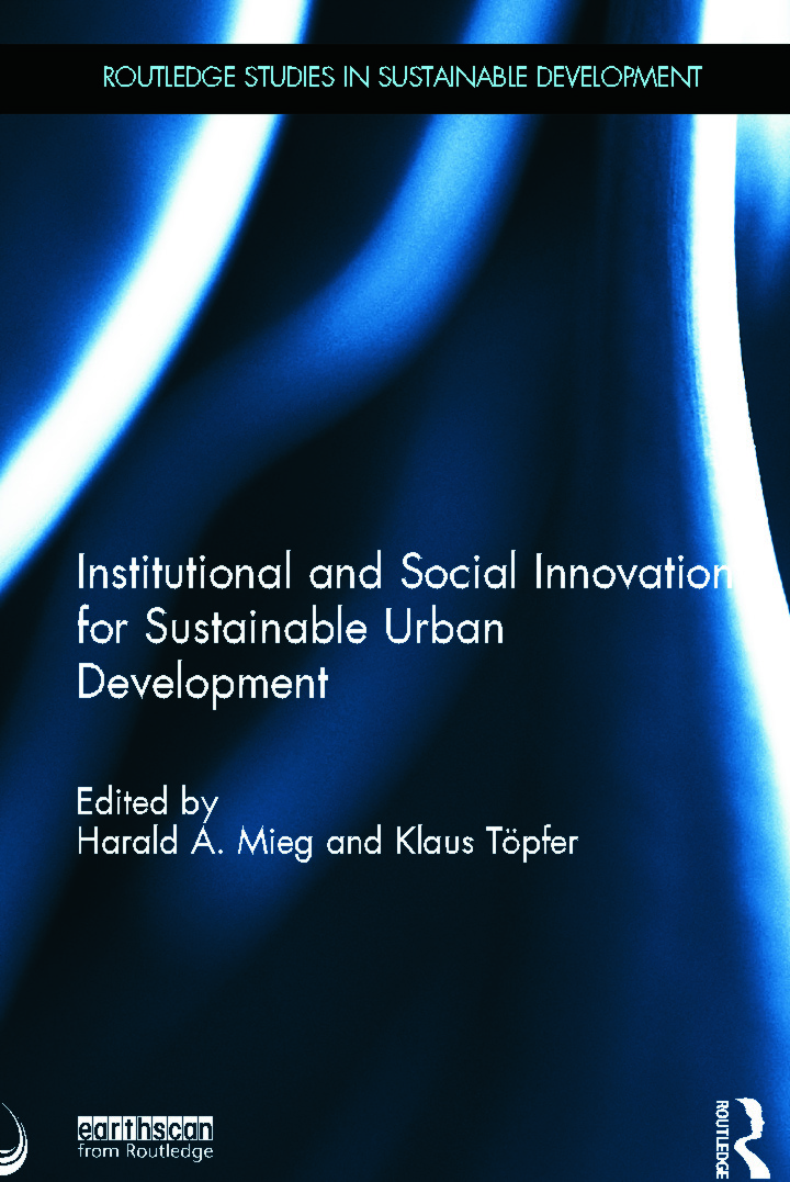 Institutional and Social Innovation for Sustainable Urban Development (Hardback) book cover