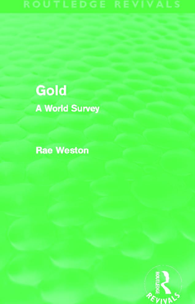 Gold (Routledge Revivals)