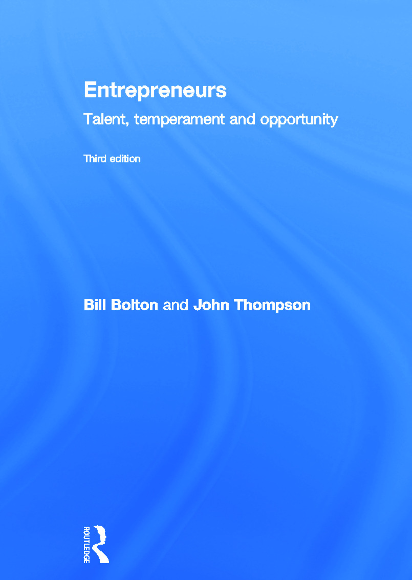 Entrepreneurs: Talent, Temperament and Opportunity, 3rd Edition (Hardback) book cover