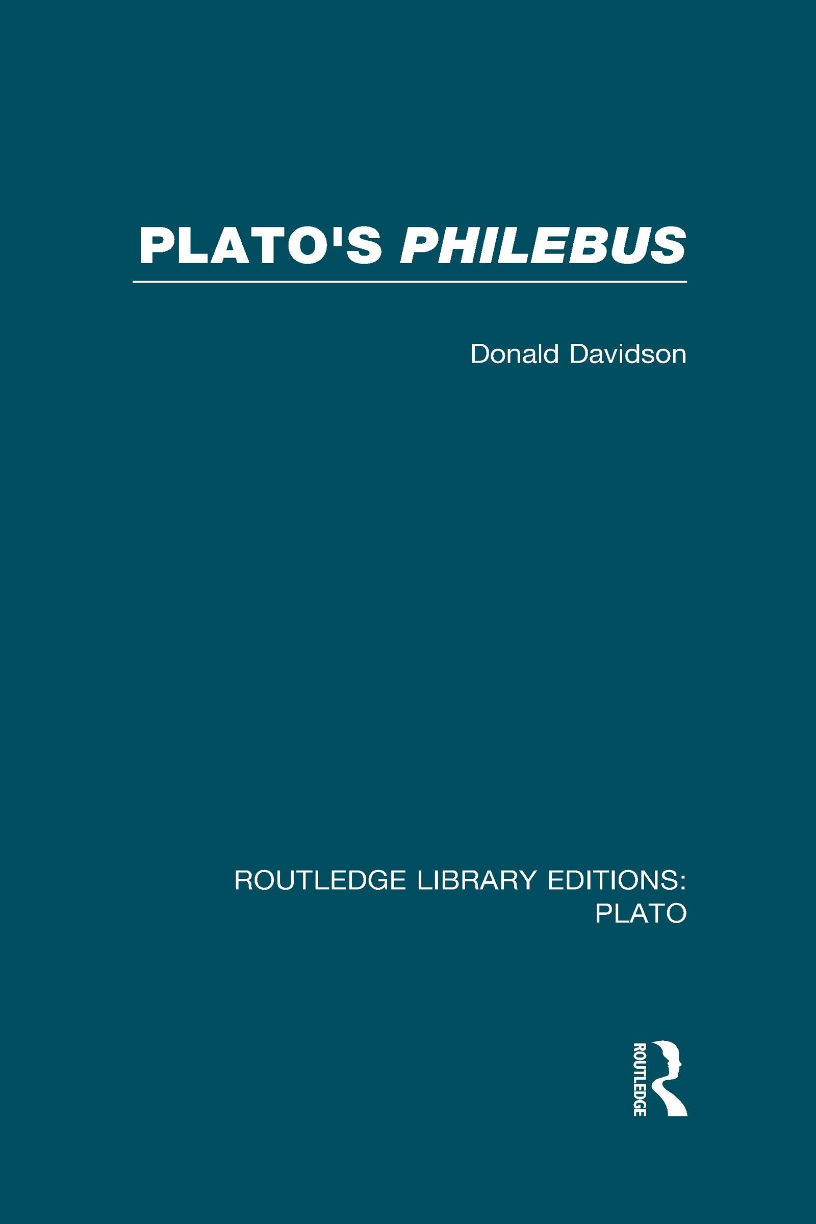 Plato's Philebus (RLE: Plato) book cover