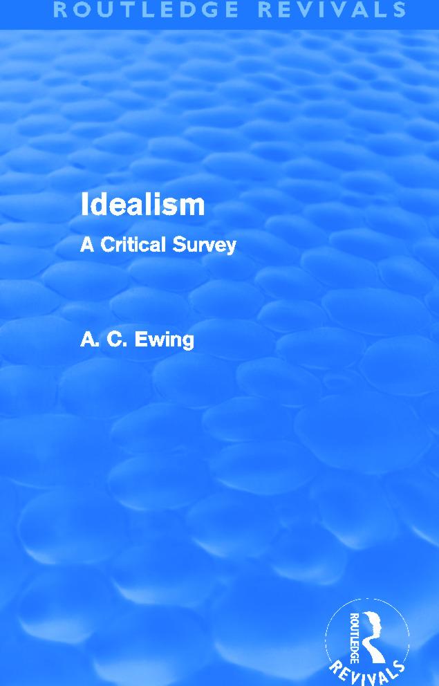 Idealism (Routledge Revivals)