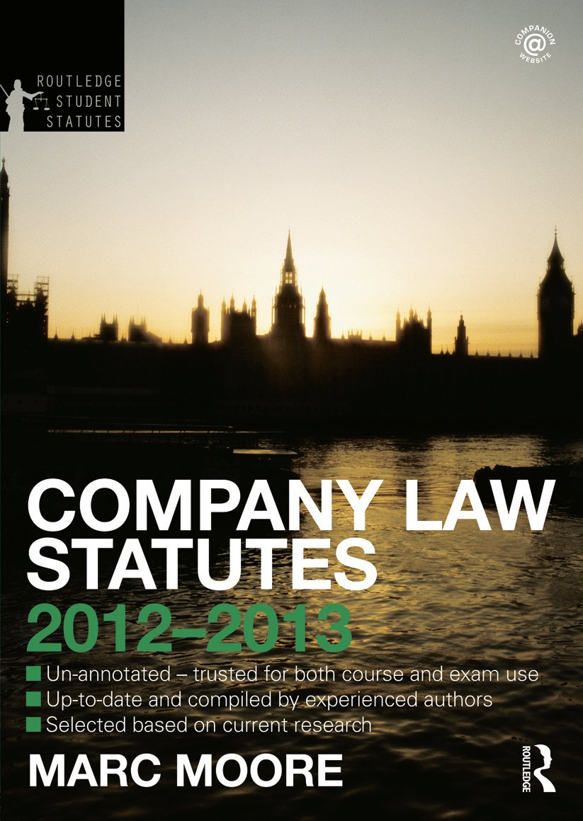 Company Law Statutes 2012-2013 book cover