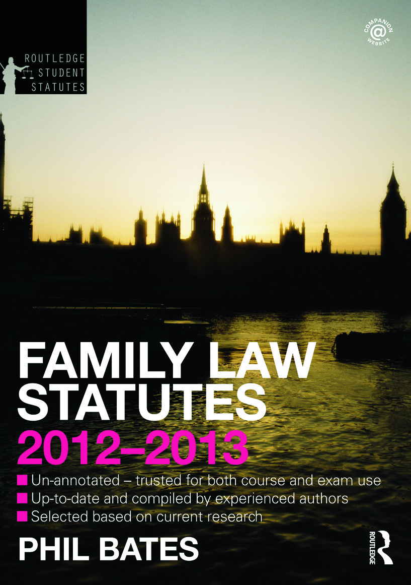 Family Law Statutes 2012-2013 book cover