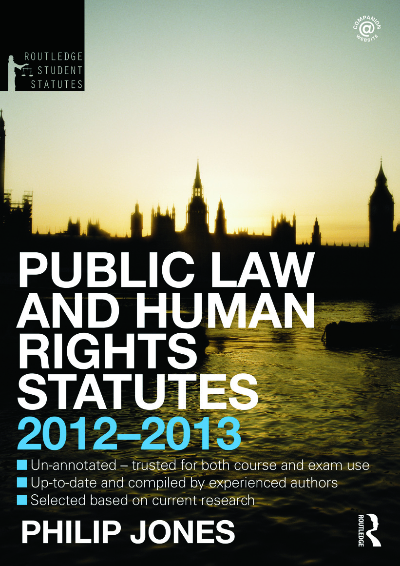 Public Law and Human Rights Statutes 2012-2013 book cover