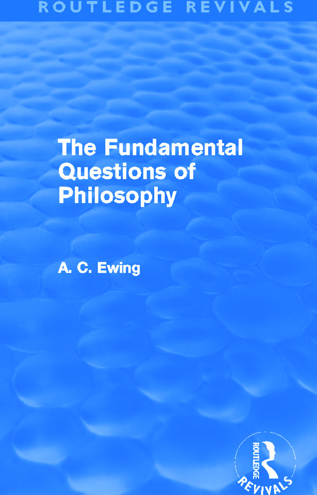 The Fundamental Questions of Philosophy (Routledge Revivals): 1st Edition (Paperback) book cover