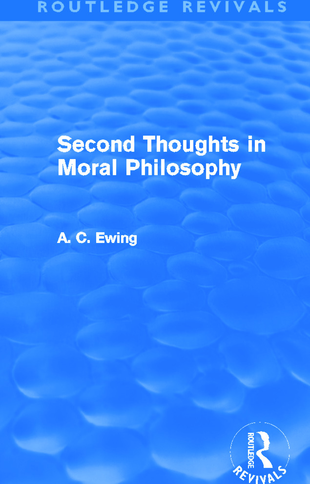 Second Thoughts in Moral Philosophy (Routledge Revivals): 1st Edition (Paperback) book cover