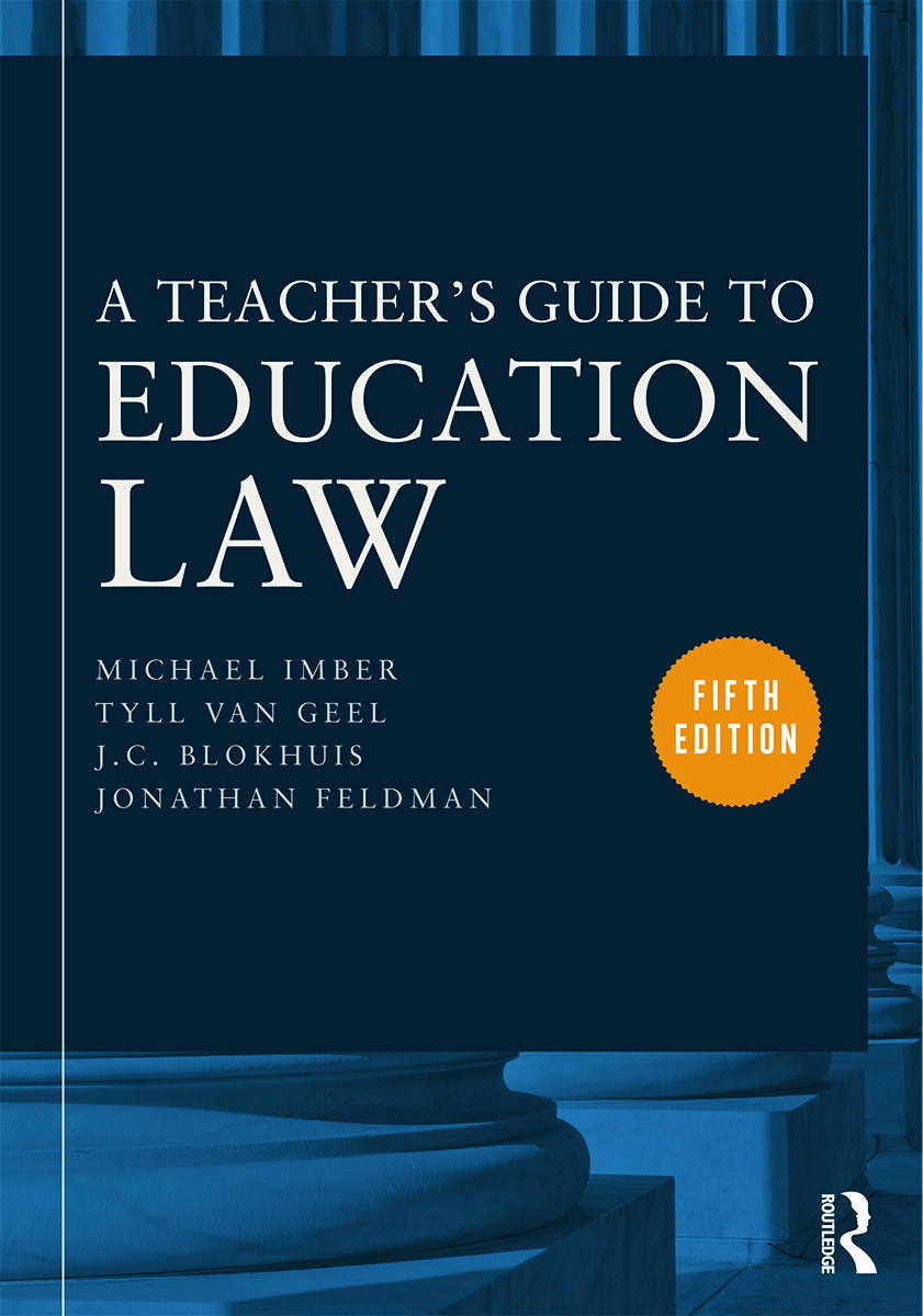 A Teacher's Guide to Education Law: 5th Edition (Paperback) book cover