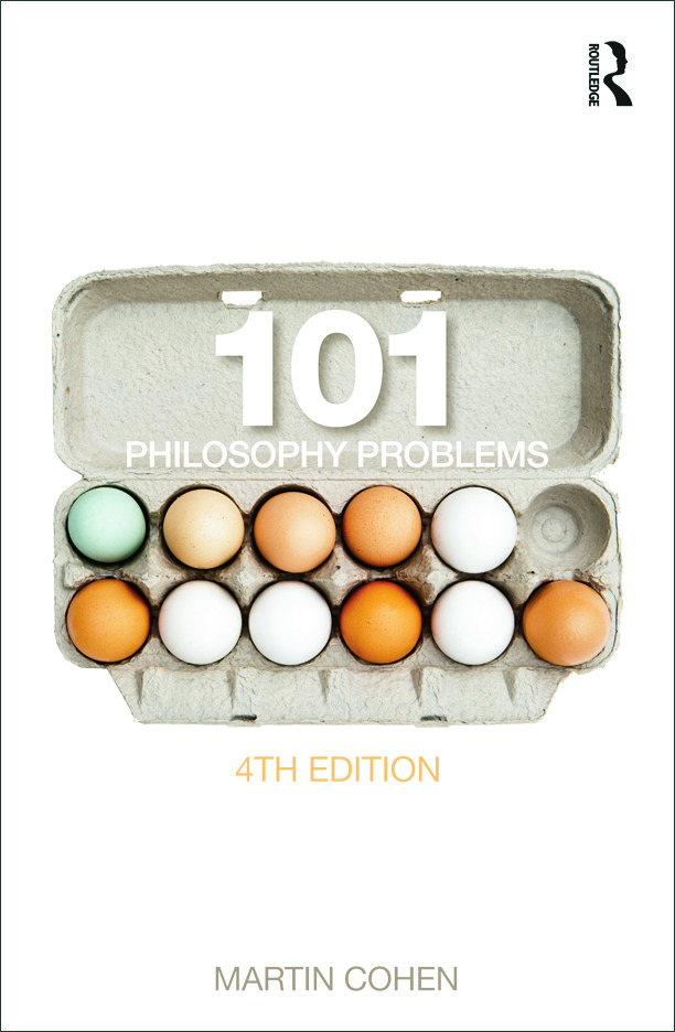 101 Philosophy Problems: 4th Edition (Paperback) book cover