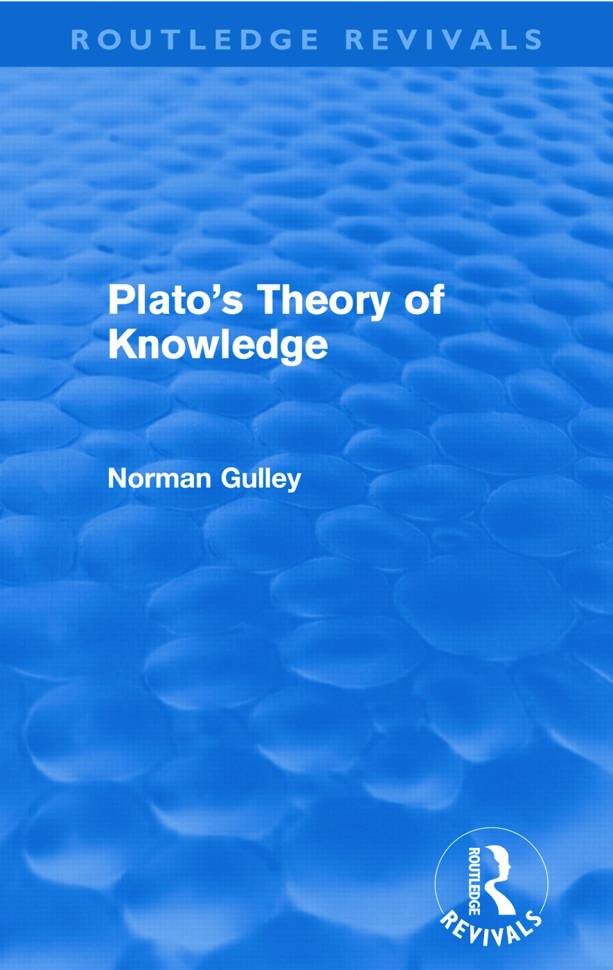Plato's Theory of Knowledge (Routledge Revivals): 1st Edition (Paperback) book cover