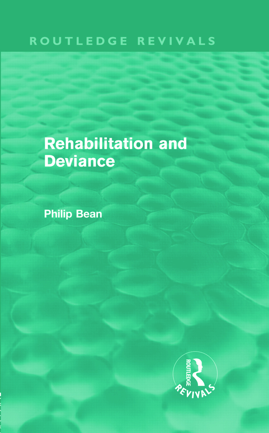 Rehabilitation and Deviance (Routledge Revivals) (Hardback) book cover