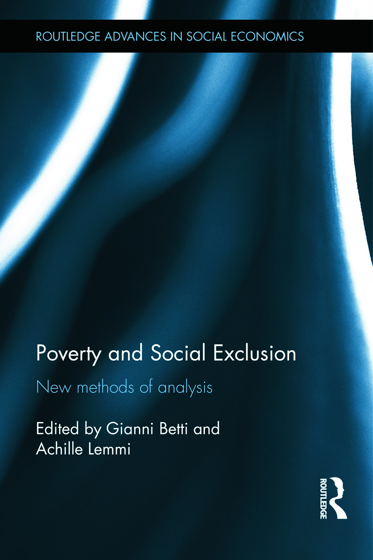 Poverty and Social Exclusion: New Methods of Analysis (Hardback) book cover