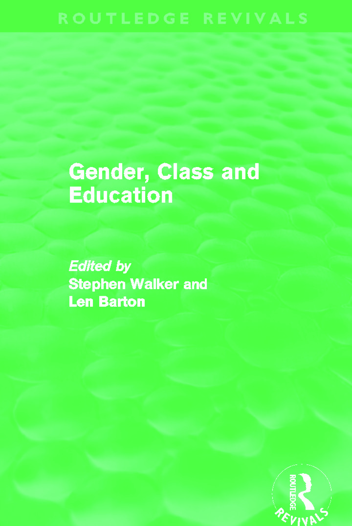 Gender, Class and Education (Routledge Revivals) (Hardback) book cover