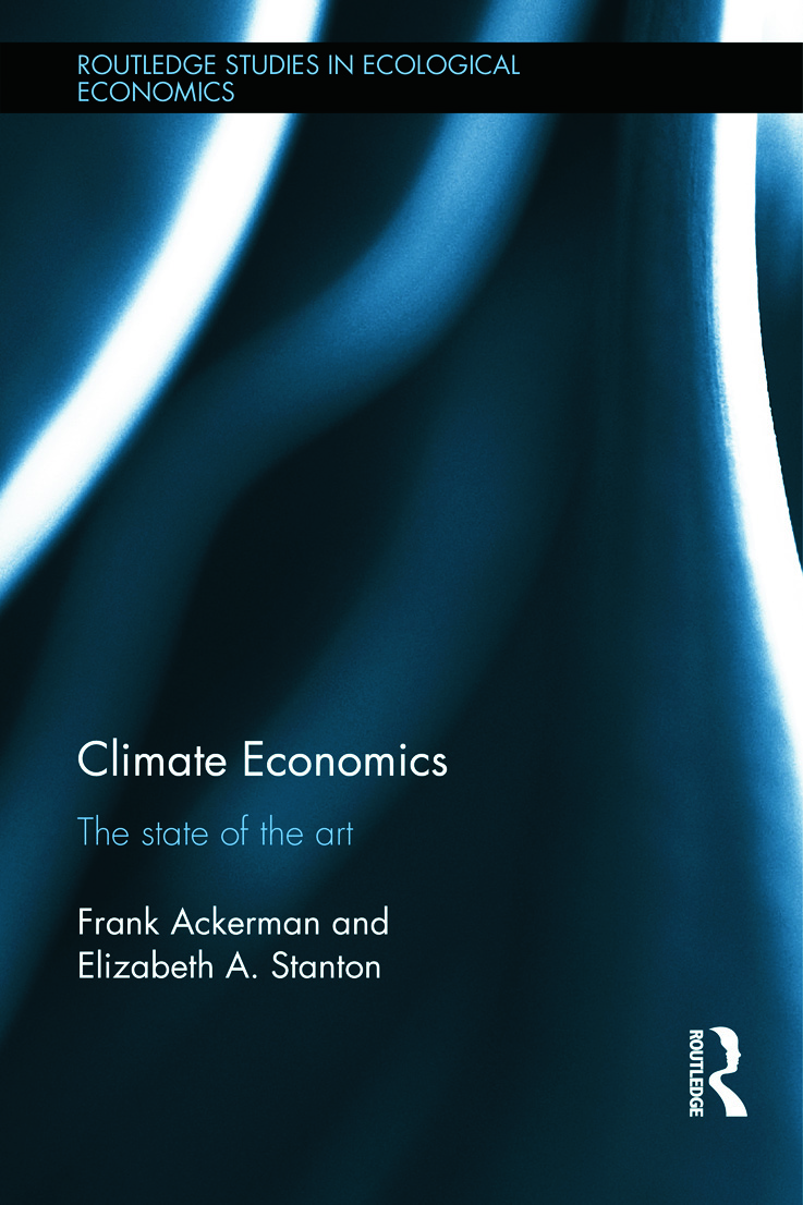 Climate Economics: The State of the Art (Hardback) book cover