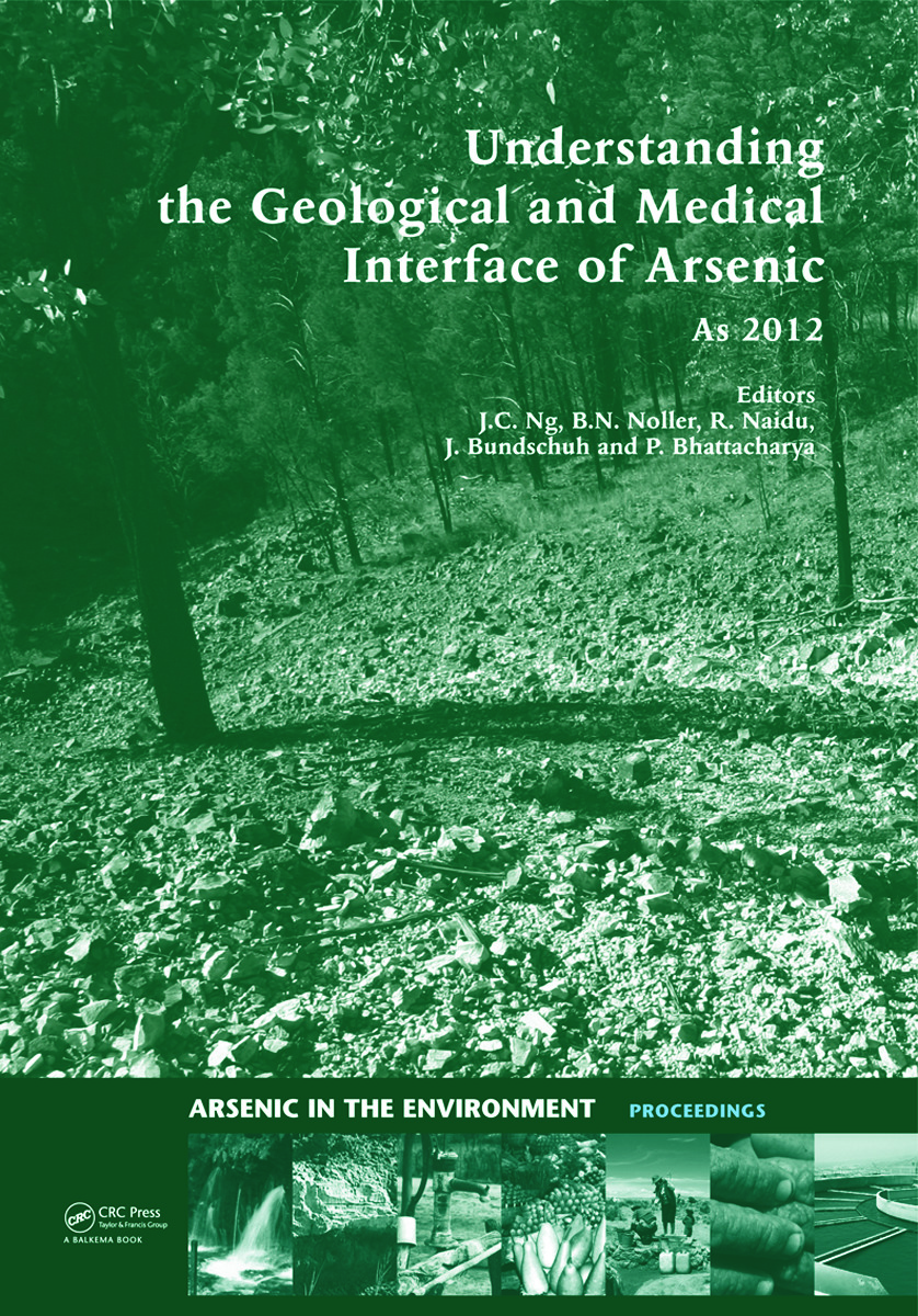 Understanding the Geological and Medical Interface of Arsenic - As 2012: Proceedings of the 4th International Congress on Arsenic in the Environment, 22-27 July 2012, Cairns, Australia (Hardback) book cover