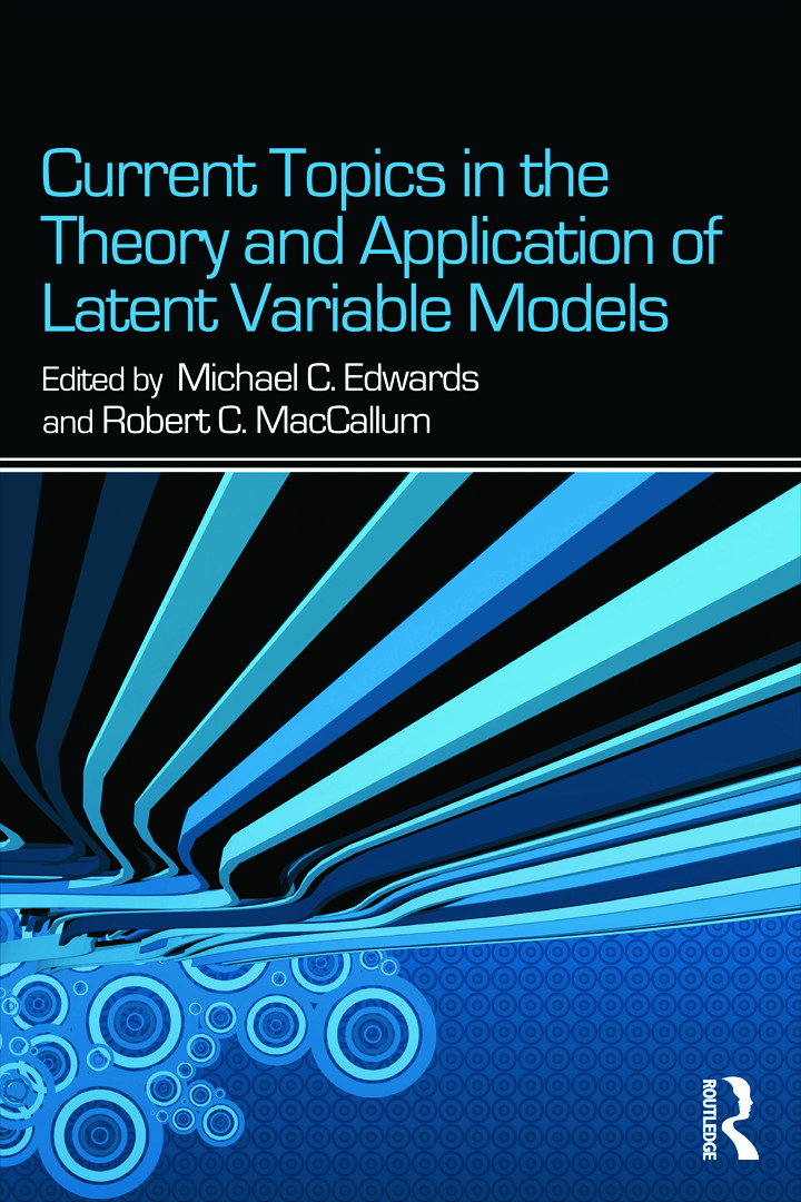 Current Topics in the Theory and Application of Latent Variable Models (Paperback) book cover