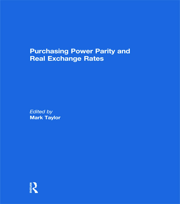 Purchasing Power Parity and Real Exchange Rates (Paperback) book cover