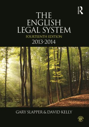 The English Legal System: 2013-2014, 14th Edition (Paperback) book cover