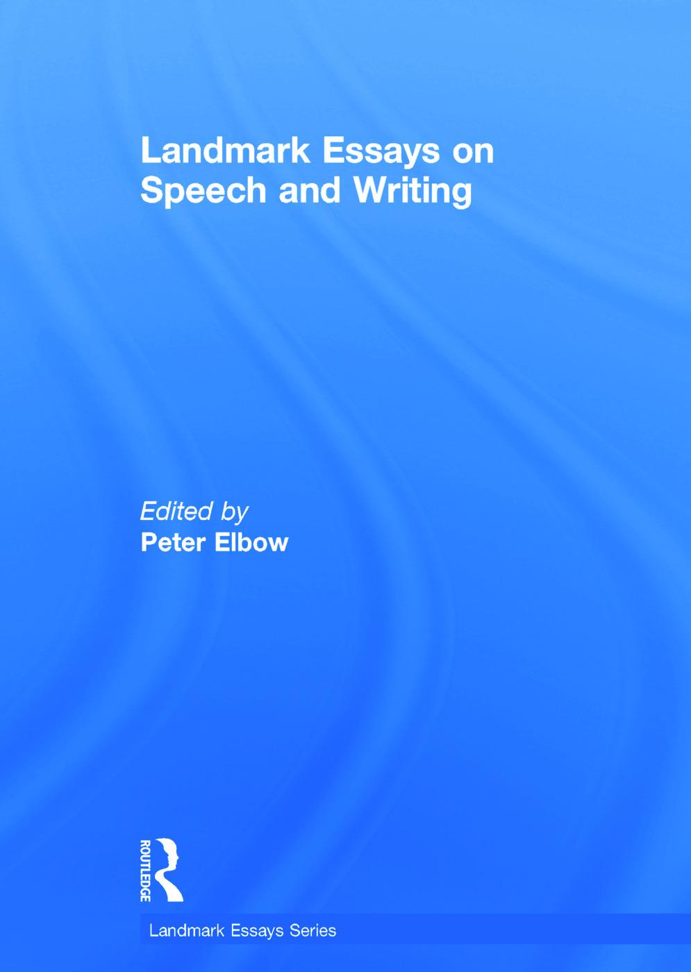 Landmark Essays on Speech and Writing book cover
