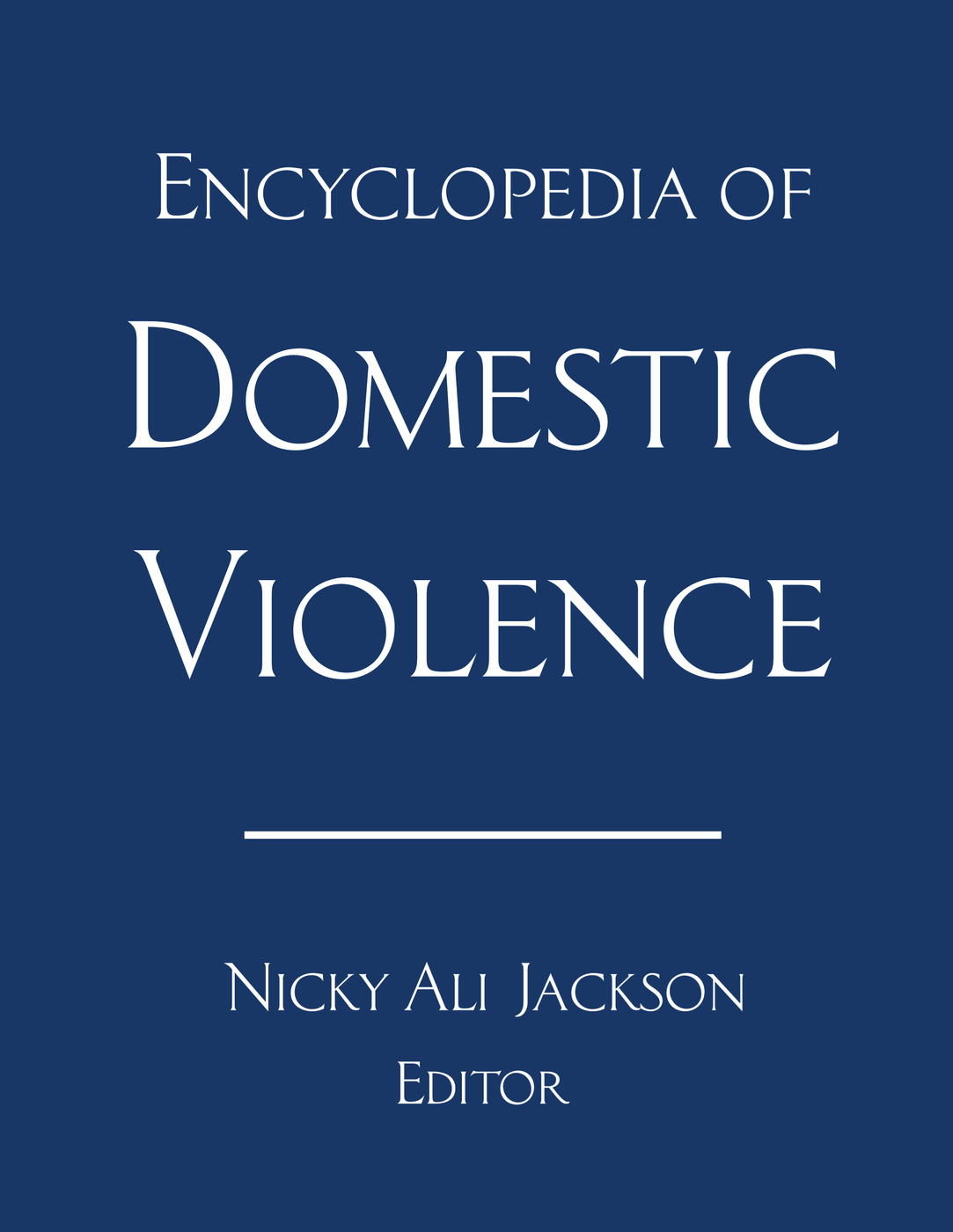 Encyclopedia of Domestic Violence (Paperback) book cover