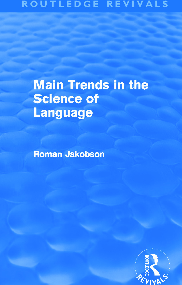 Main Trends in the Science of Language (Routledge Revivals): 1st Edition (Paperback) book cover
