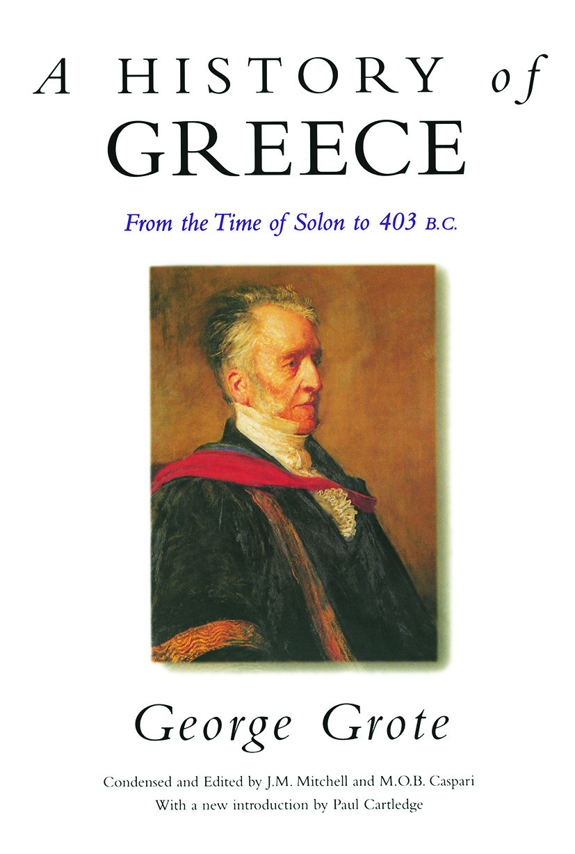 A History of Greece: From the Time of Solon to 403 BC (Paperback) book cover
