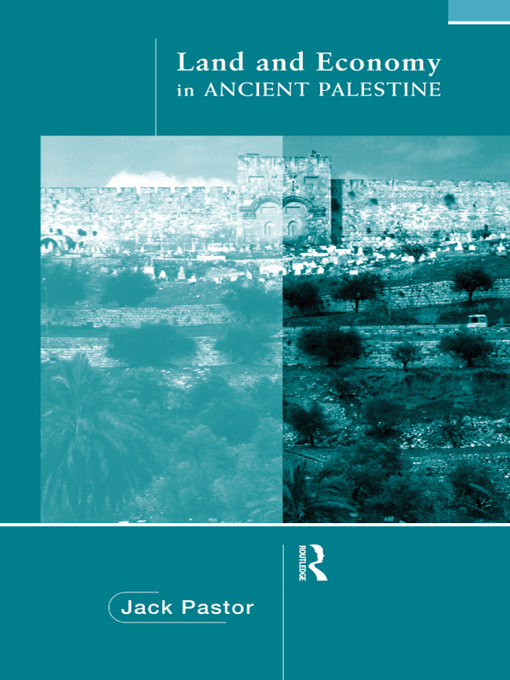 Land and Economy in Ancient Palestine book cover