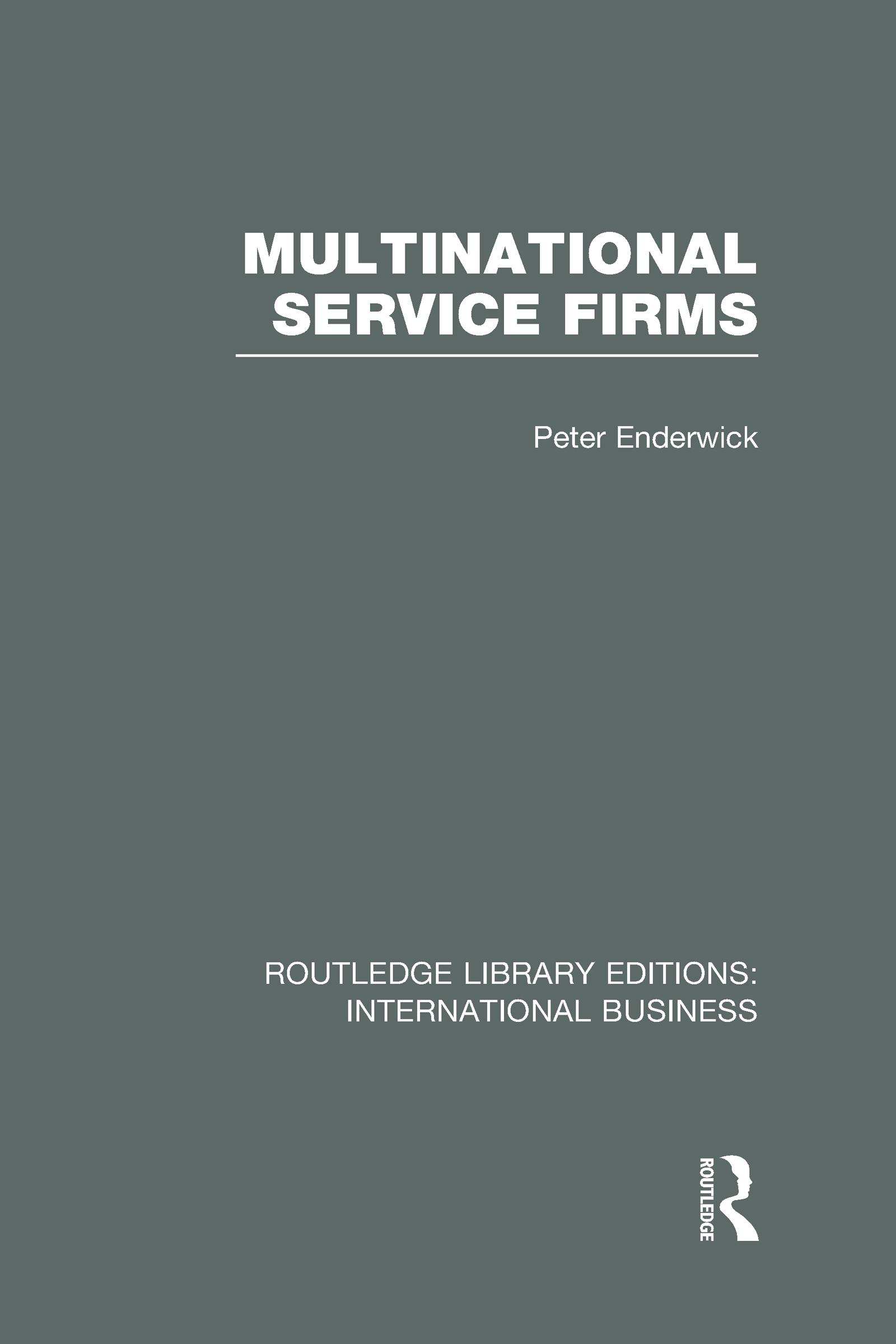 Multinational Service Firms (RLE International Business) (Hardback) book cover