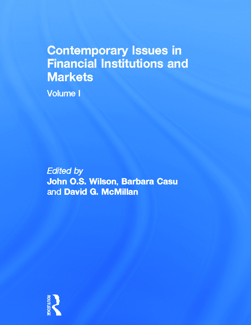 Contemporary Issues in Financial Institutions and Markets: Volume I (Hardback) book cover