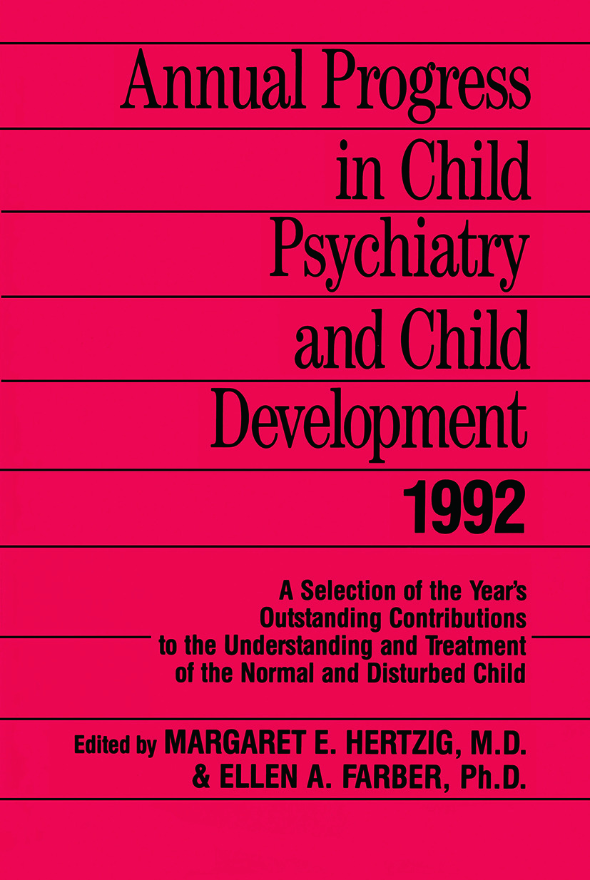 Annual Progress in Child Psychiatry and Child Development 1992: 1st Edition (Paperback) book cover