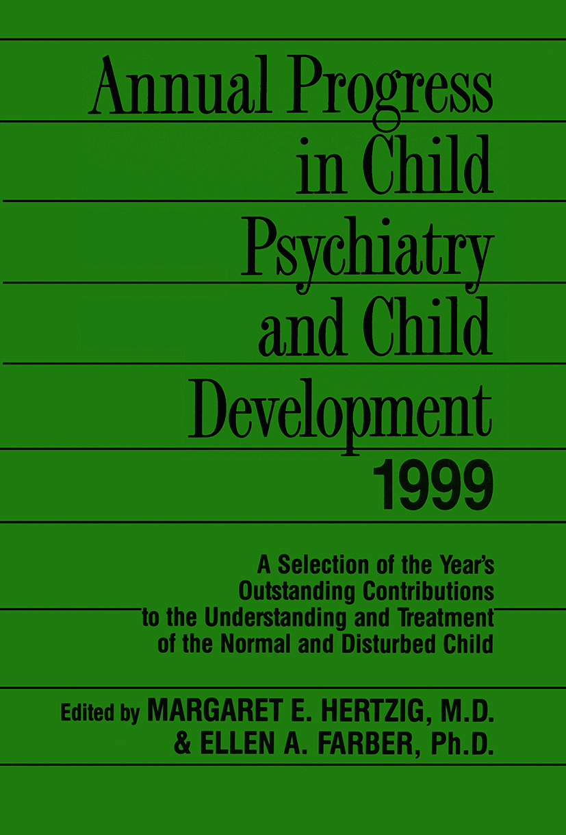 Annual Progress in Child Psychiatry and Child Development 1999 (Paperback) book cover