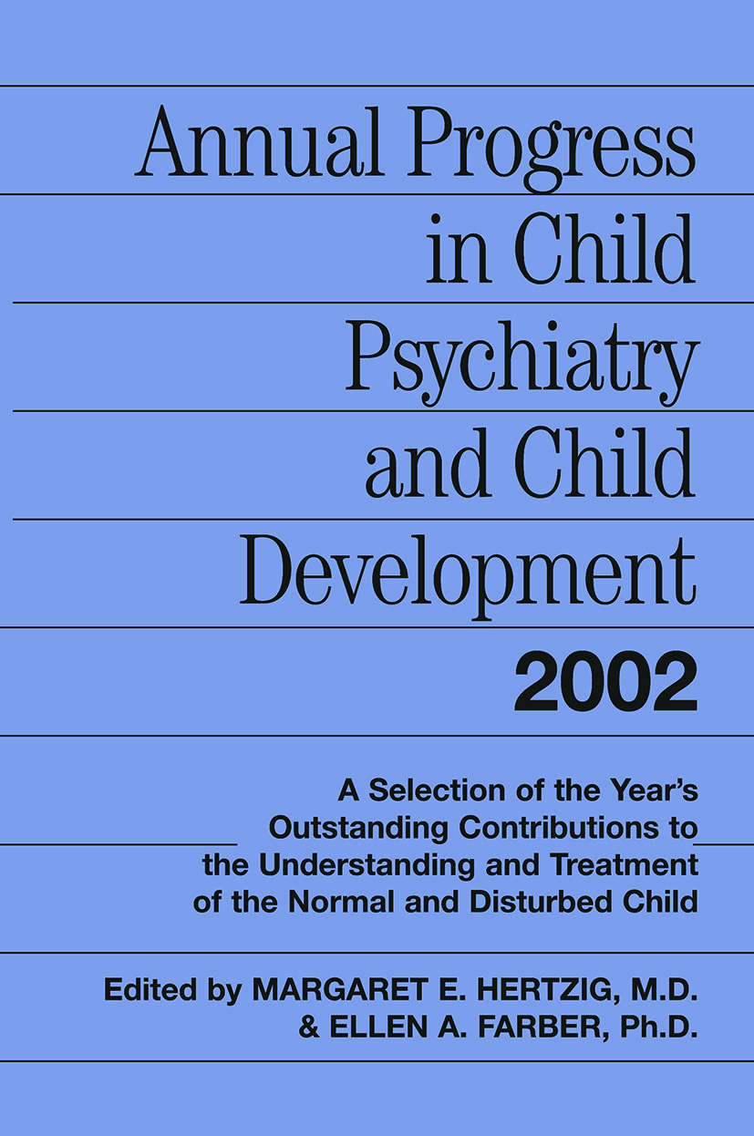 Annual Progress in Child Psychiatry and Child Development 2002 (Paperback) book cover
