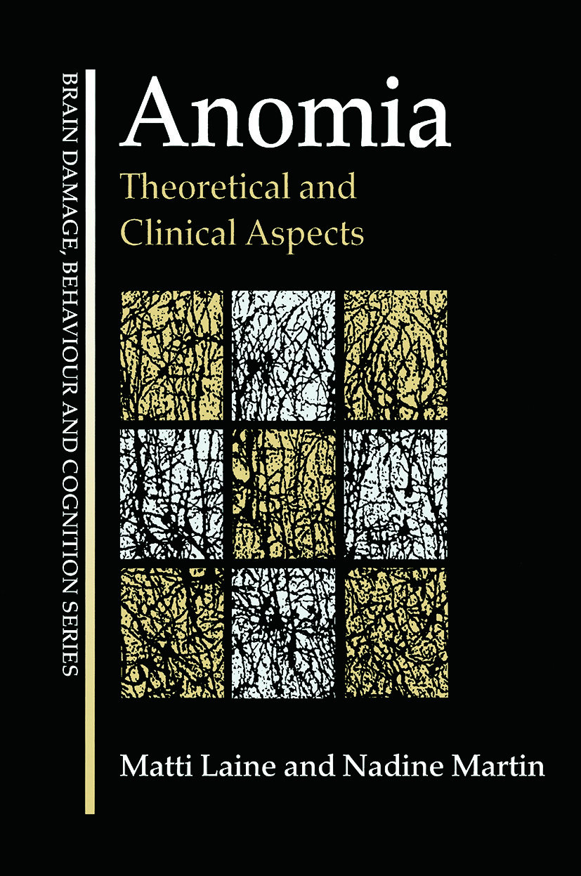 Anomia: Theoretical and Clinical Aspects (Paperback) book cover