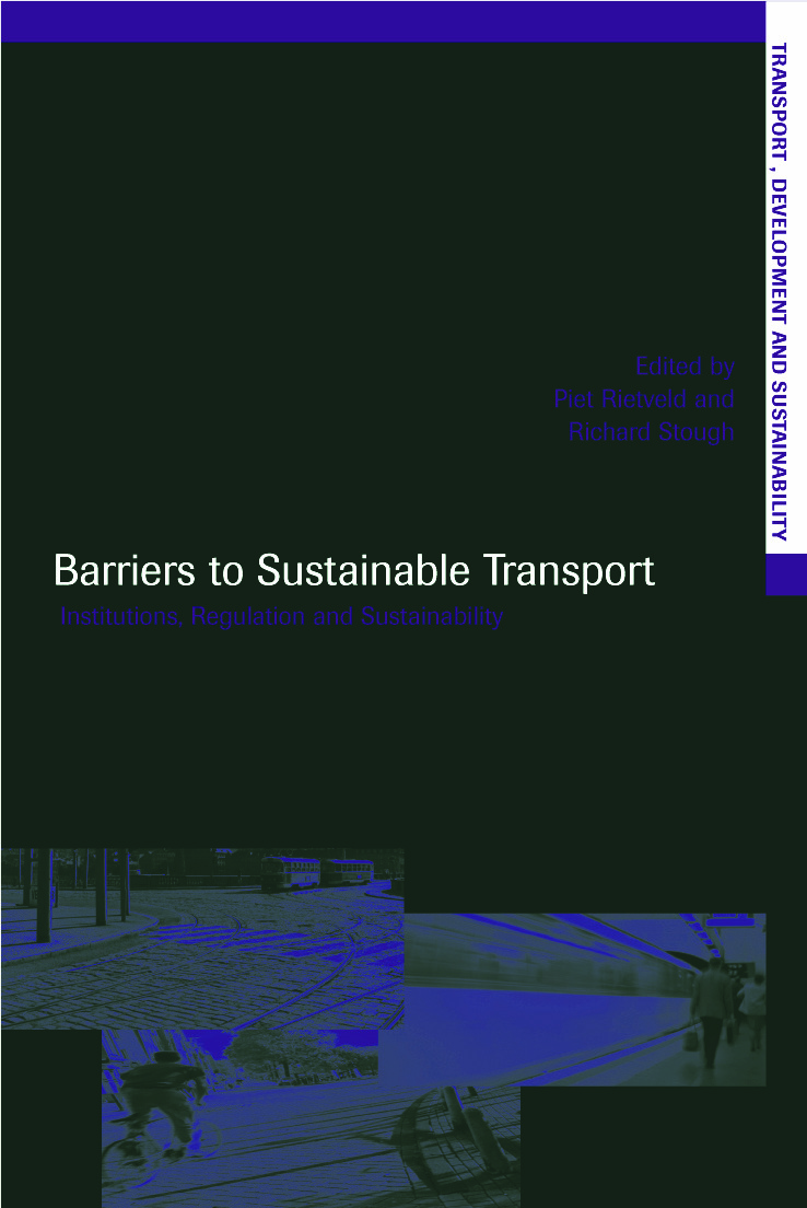 Barriers to Sustainable Transport: Institutions, Regulation and Sustainability book cover