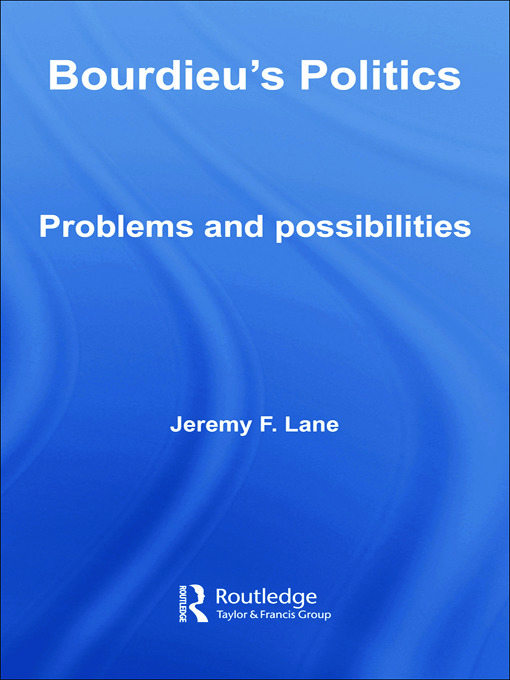 Bourdieu's Politics: Problems and Possiblities (Paperback) book cover