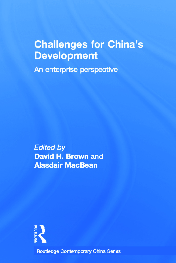 Challenges for China's Development: An Enterprise Perspective (Paperback) book cover